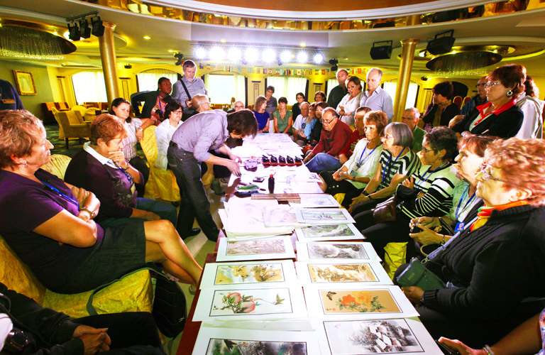 Yangtze River Cruise Activities - Chinese Painting and Calligraphy Lecture