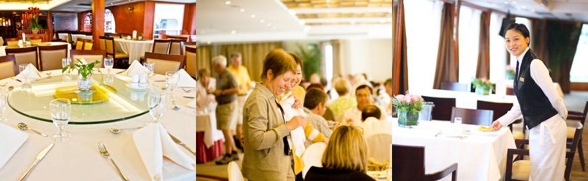 Yangtze River Cruise Dining Food Drinking Onboard