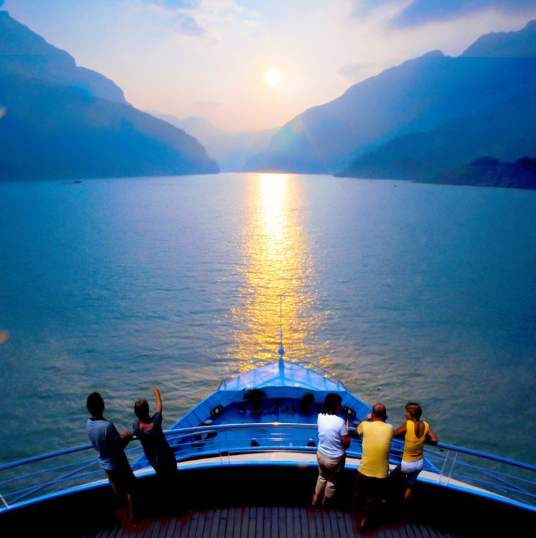 Summer Sunset at Yangtze River