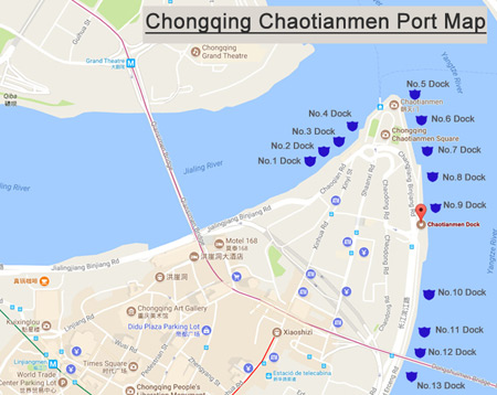 Chongiqng Chaotianmen Port Map