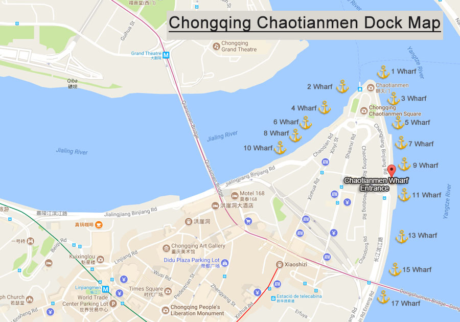 Yangtze River Cruise Port - Chongqing Chaotianmen Port MAp