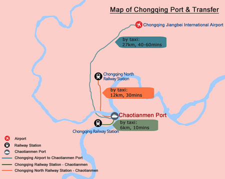 Yangtze River Map - Chongqing Map of Port and Transfer