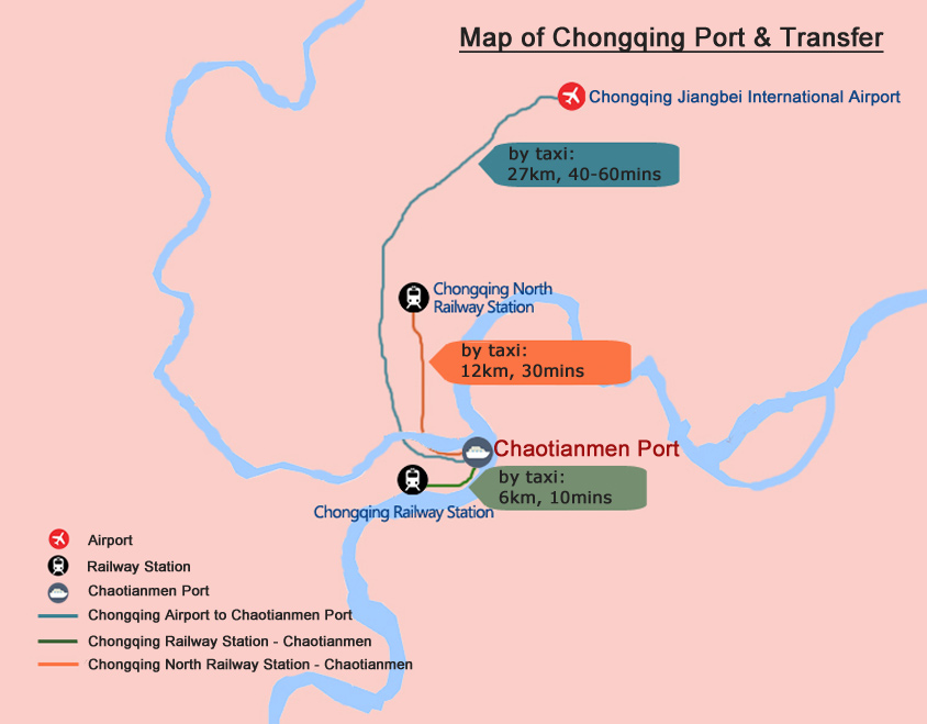 Chongqing Port Map - Chongqing Transportation