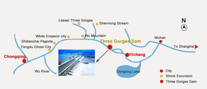 Three Gorges Dam Location