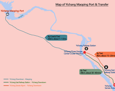 Yangtze River Map - Maoping Port Map