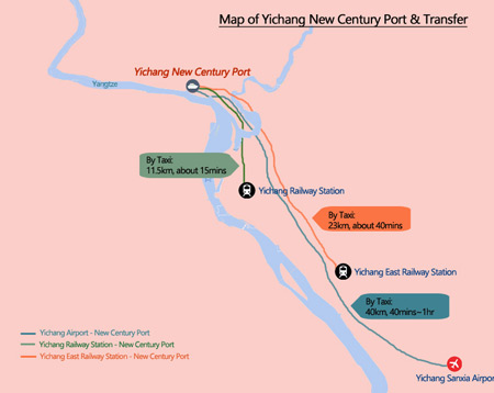 Yangtze River Map - Yichang New Century Port Map