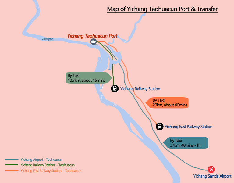 Yangtze River Map Yangtze Cruise Location Route