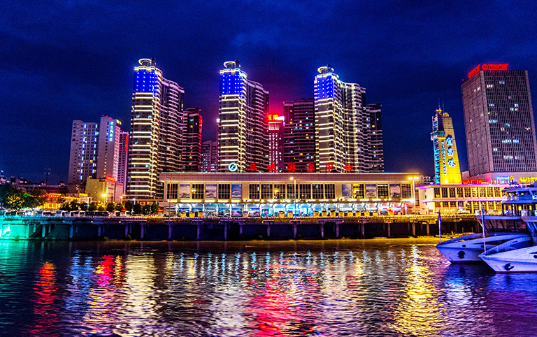 Yichang Three Gorges Center Cruise Terminal Nightview