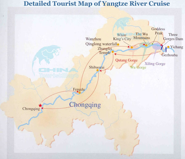 yichang maps three gorges dam map