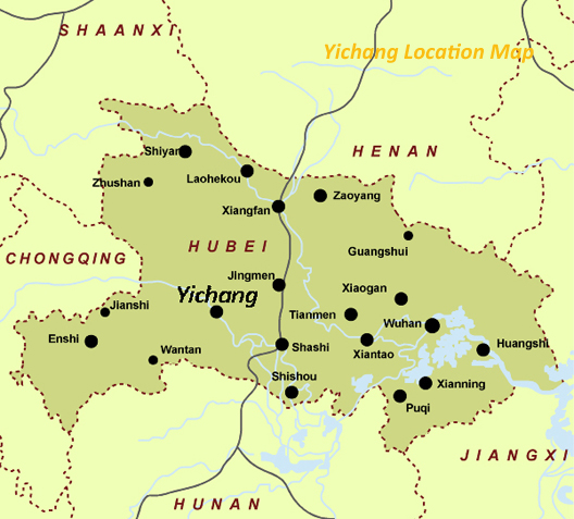 Yichang Maps, Three Gorges Dam Map