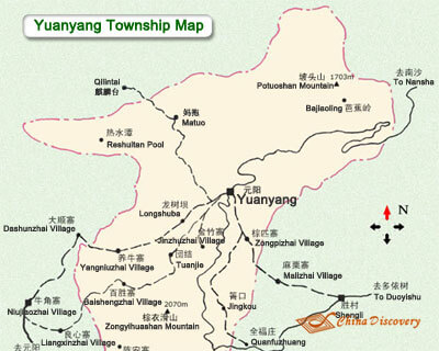 Yuanyang Xinjiezhen Attraction Map