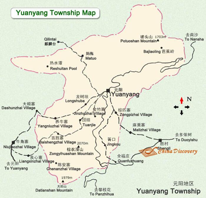 Yuanyang China  City pictures : Yuanyang China Map, Yuanyang Tourist Map