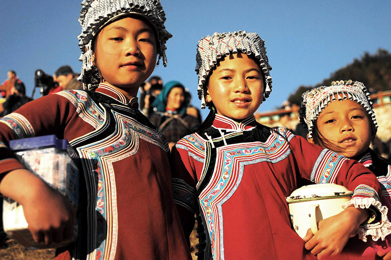 Local Hani Children in Yuanyang County