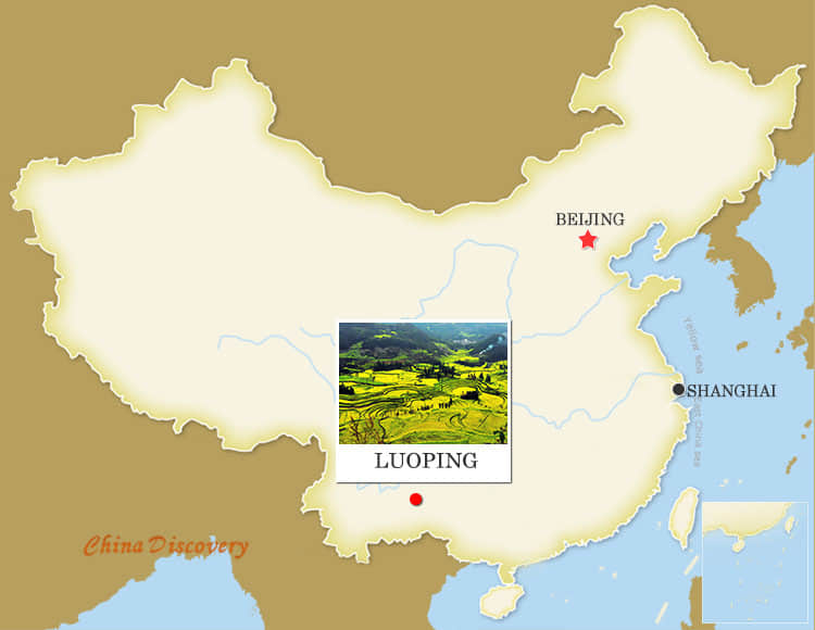 Luoping China Map