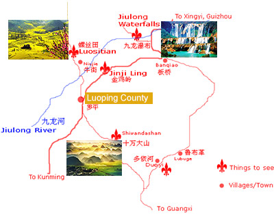 Luoping Attraction Map