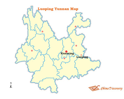 Luoping Yunnan Map