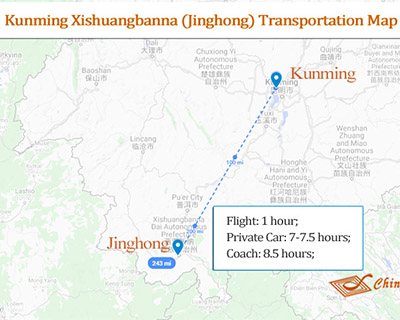 Xishuangbanna Attraction Map