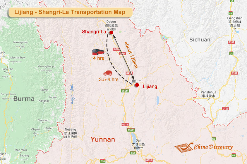 Lijiang Shangri-La Travel Map