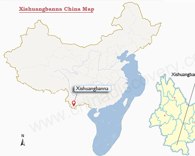 Xishuangbanna China Map