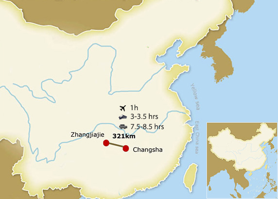 Changsha Zhangjiajie Transportation Map