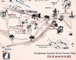 Fenghuang Ancient Town Tourist Map