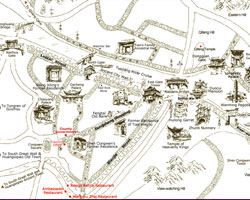 Map of Fenghuang Ancient Town