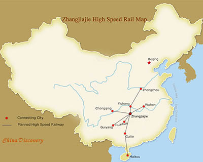 Zhangjiajie High Speed Rail Map