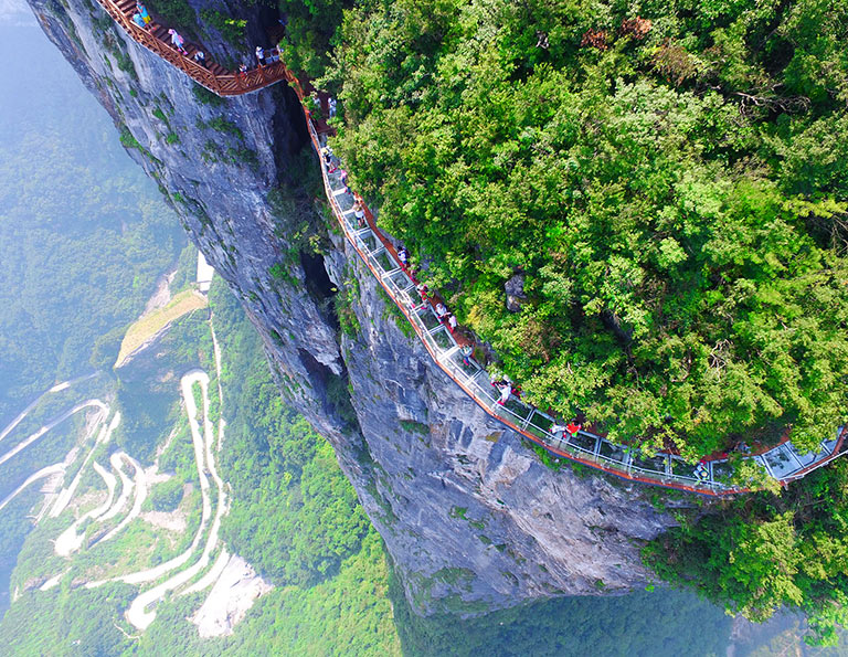 Tianmen Mountain National Park - Glass Skywalk
