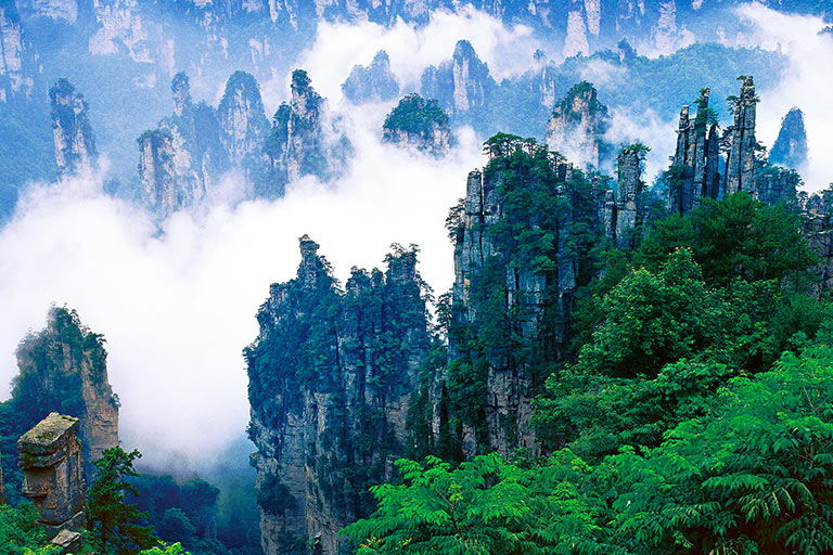 Tianzi Mountain Amazing Scenery