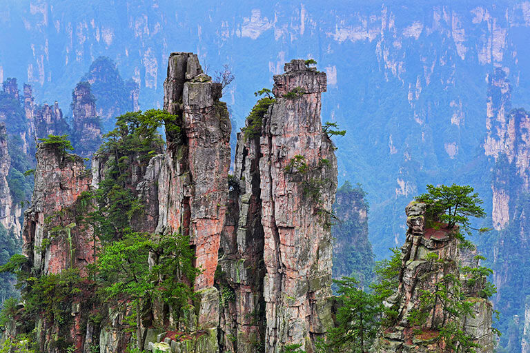 Peculiar Stone Peaks at Tianzi Mountain