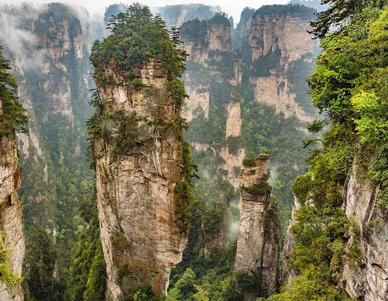 Avatar Hallelujah Mountain at Yuanjiajie