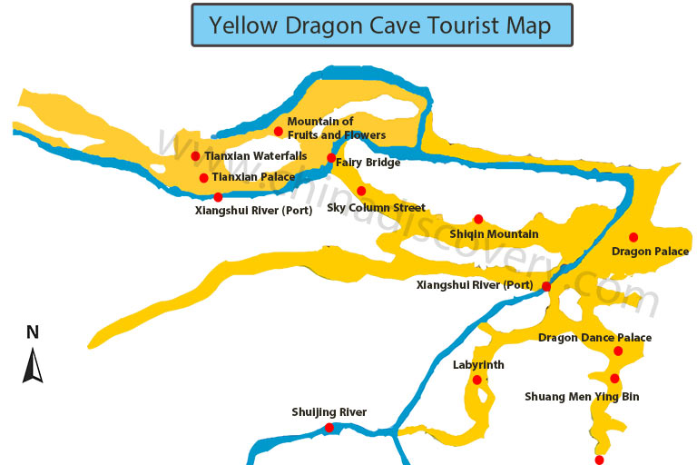 Zhangjiajie Yellow Dragon Cave Tourist Map
