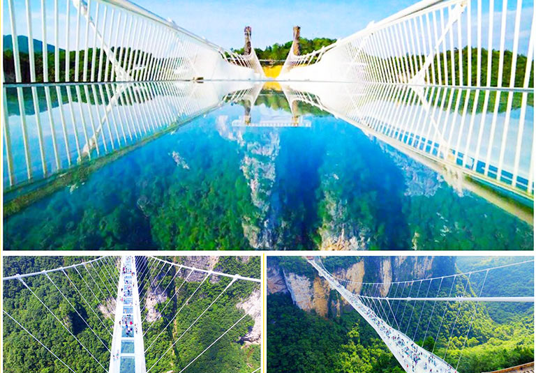 Glass Bridge and Grand Canyon in Zhangjiajie