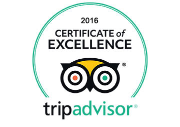 2016 Winner of TripAdvisor's Certificate of Excellence