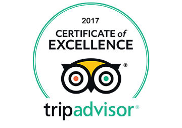 2017 Winner of TripAdvisor's Certificate of Excellence