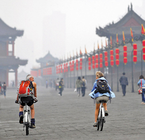 Xian Ancient City Wall Cycling